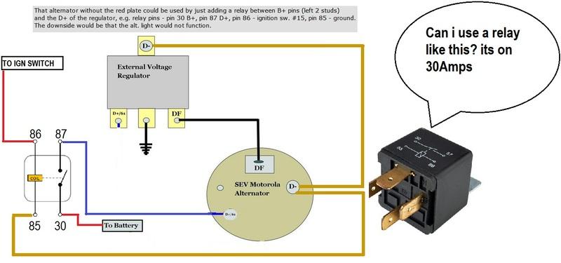 fitting later -75 Motorla alternator to swb voltage