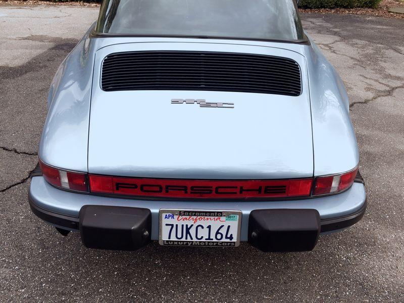 Rare 1982 911 Sc Targa In Light Metallic Blue Low Mileage