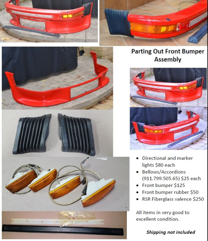 Fs parting out bumper and rsr valance assembly pelican for Garage ad valence