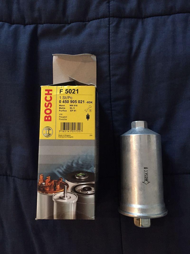 fs new bosch fuel filter 0 450 905 021 14 pelican parts. Black Bedroom Furniture Sets. Home Design Ideas