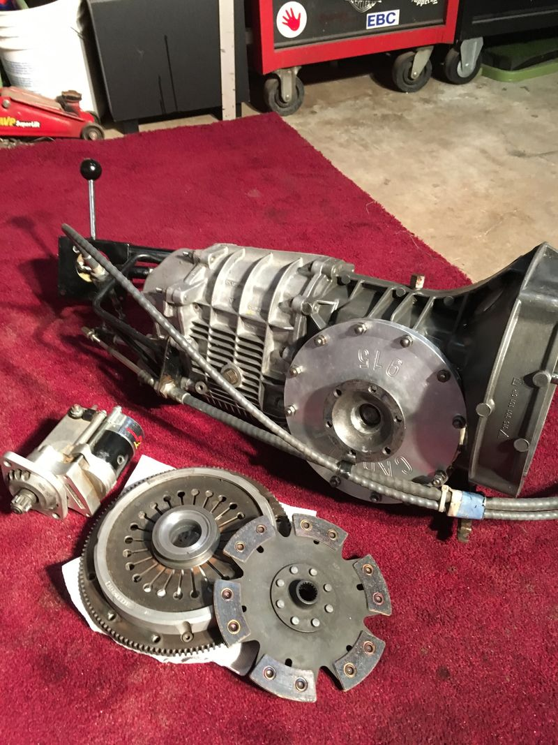 Porsche 915 transaxle with flipped ring for mid engine for ...