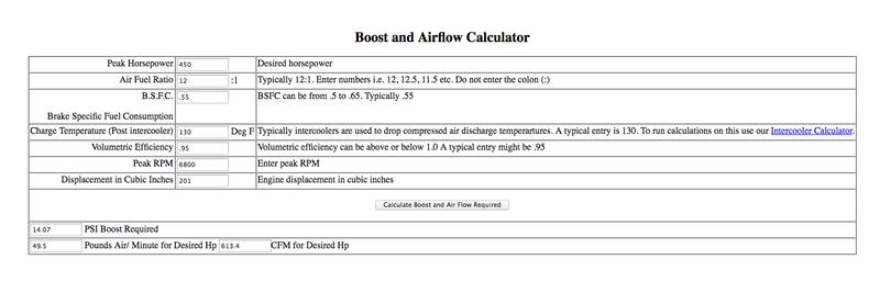 Boost vs  AFR Calculator - Pelican Parts Forums