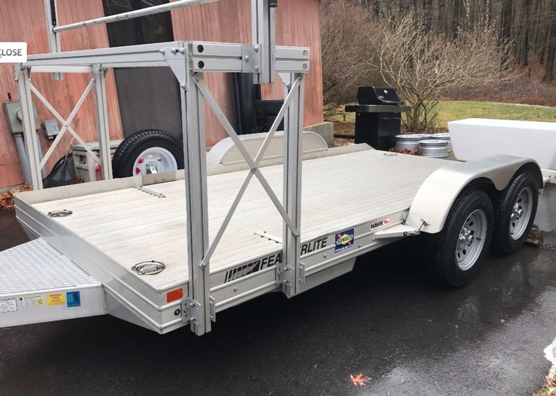 Featherlite 3110 14' X 8.5' open car aluminum trailer with ...