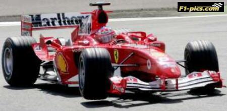 Formula 1 Ferrari Inside Tyre Unloaded - Credit: F1-pics.com