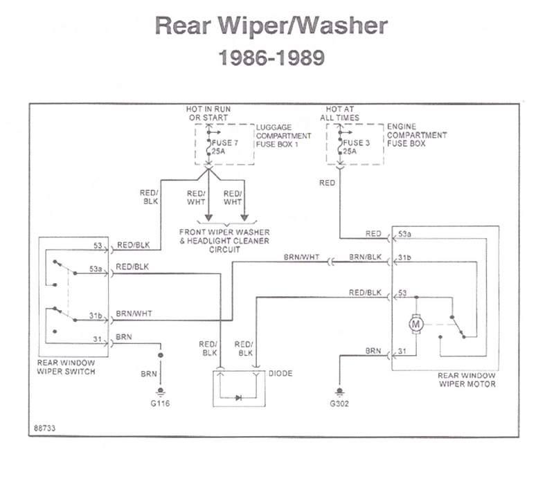 Wiring Diagram Bosch Wiper Motor : Bosch rear wiper motor wiring diagram and