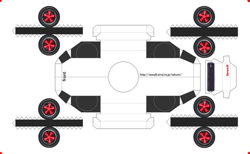 Как сделать колесо для машины из бумаги
