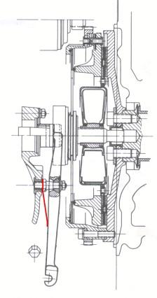 Clutch Fork Spring Diagram