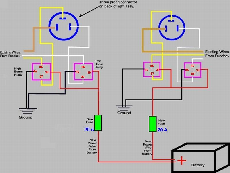 Headlight Relay Schematic