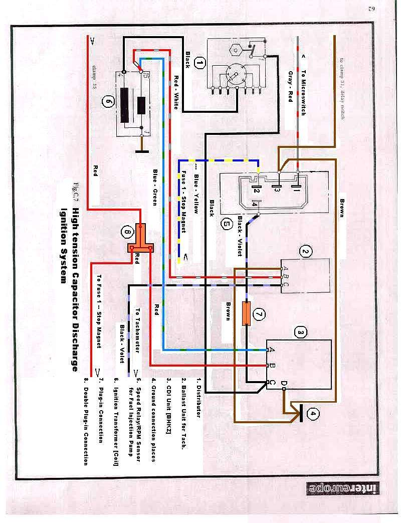 Tach Oh Woe Pre 74 Pelican Parts Forums Bosch Tachometer Wiring Here Is A Revised Edited Diagram For The 1969 70 Engines With Cdi And Mfi Using Ballast Unit Between Coil Lead From