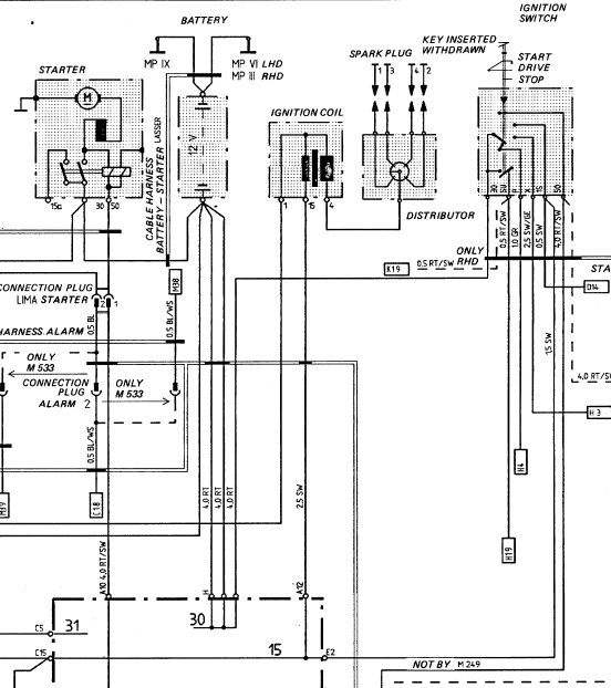 1979 porsche 924 wiring diagram  porsche  wiring diagrams