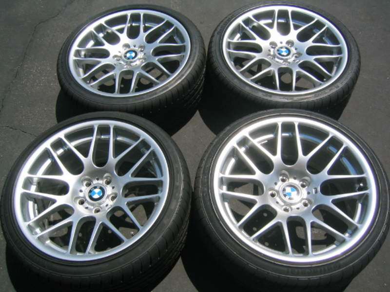 FS BMW OEM CSL WHEELS w/NEW Tires Never Used