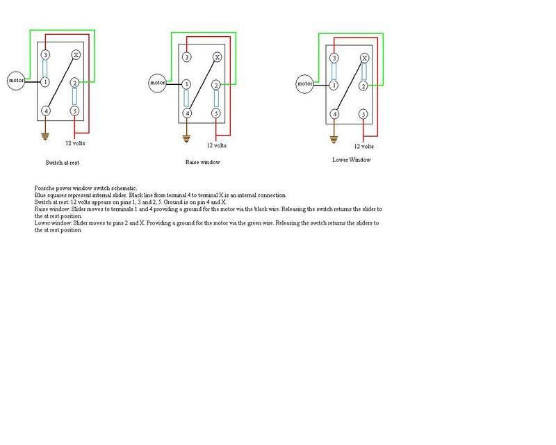Power Window Switch schematic Pelican Parts Technical BBS