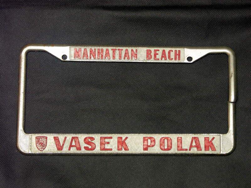 Vasek Polak License Plate Frame Pelican Parts Forums