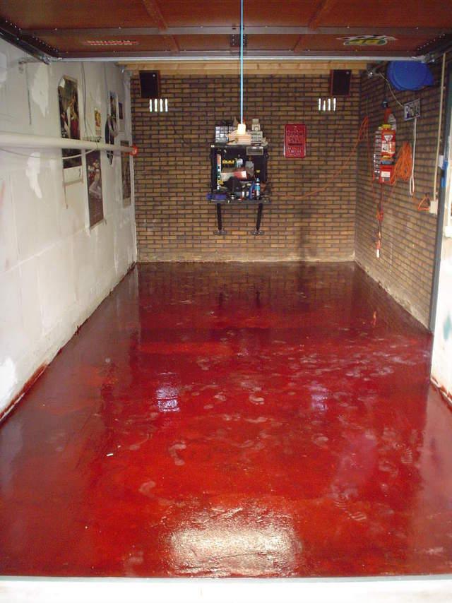 Garage Floor Epoxy Red Pictures