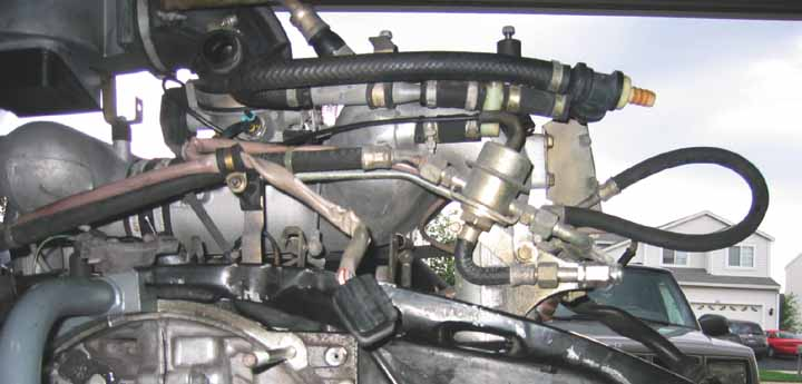 Brake Booster Vacuum Line : Intake brake booster on efi conversion pelican parts