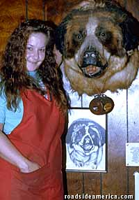 1957 the dog was in the guiness book as world s largest st bernard he