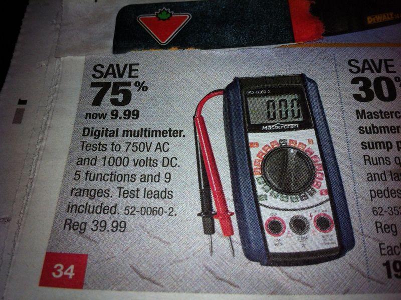 Mastercraft Digital Multimeter Manual 52 0060 2 Digital