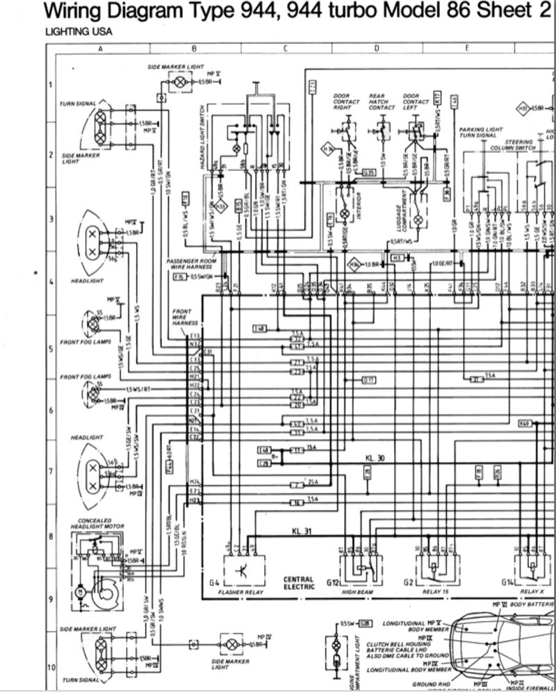 Porsche 944 Wiring Diagram Best Secret End Of Line Relay Side Marker Light Reading Diagrams Pelican 1988