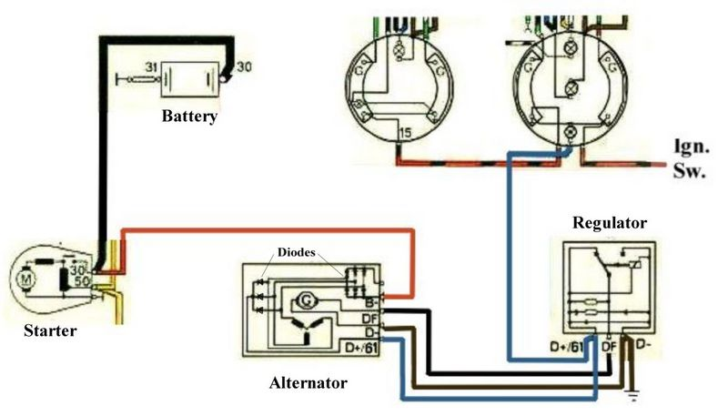 Honda obd alternator wiring diagram circuit and