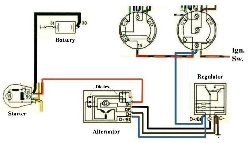 2000 Honda Accord Alternator Wiring Diagram : Honda obd alternator wiring diagram circuit and