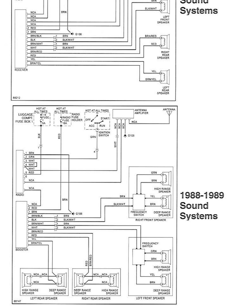 Radio Wiring Diagram Or Chart 1989 32l Targa Pelican Parts Forums Audi Valeo Here Is The Per Bentley For Preamp Setup