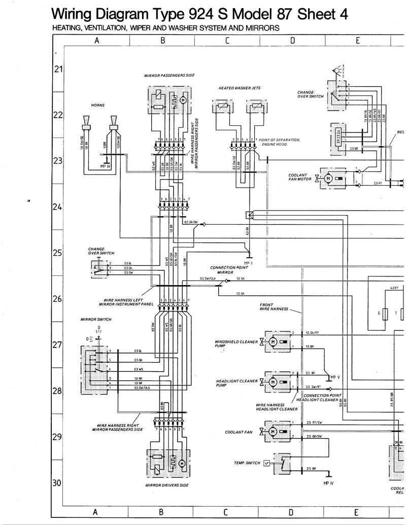 Porsche 944 Mirror Wiring Diagram Schematic Diagrams 991 Engine Electricity S2